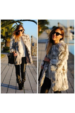 Sfera coat - PERSUNMALL boots - chicnova bag - Nomination bracelet