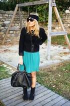 aquamarine Primark skirt - black Zara boots