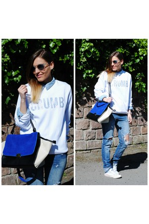 PERSUNMALL jeans - crumb sweatshirt - Nomination bracelet