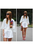 Fiorella bag - Choies sunglasses - Front Row Shop blouse