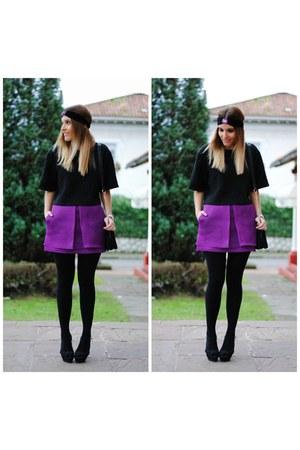 Front Row Shop skirt - chicnova bag - Choies t-shirt