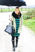 Primark dress - Hunter boots - Primark scarf