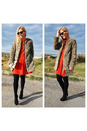 zalando coat - Mango dress