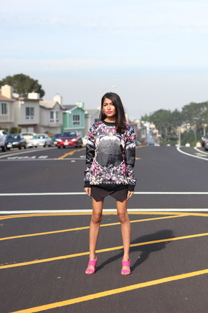 skort Choies shorts - New Jack City SF sweatshirt - shoes Sway heels