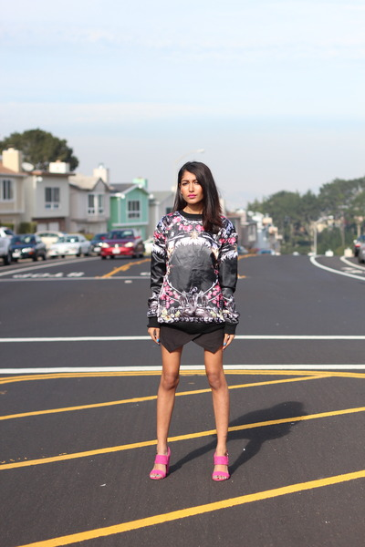 skort Choies shorts - New Jack City SF sweatshirt - shoes Sway heels