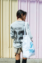 black cut-out boots Missguided shoes - white malibu tote QTee bag