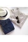 Fedora-hat-attack-hat-sunglasses-ray-ban-sunglasses-silver-club-monaco-top