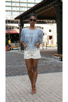 vintage shorts - vintage top - urban original heels
