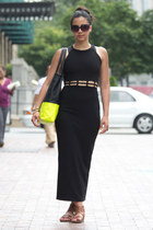vintage dress - Violet Boutique bag - franco sarto sandals