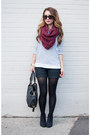 Navy-striped-forever-21-sweater-magenta-knit-asos-scarf