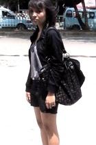gaudy jacket - Forever21 top - Zara skirt - highheels shoes