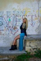 Zara boots - Lulus dress - Stradivarius jacket