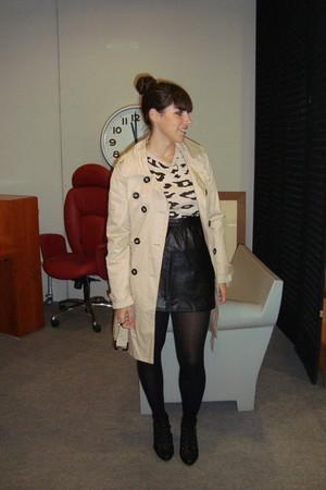 beige Primark jacket - black H&M skirt