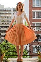 carrot orange vintage skirt - burnt orange Nordstrom sandals