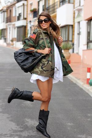 Runwaydreamz jacket - Springfield boots - Cortefiel dress - Zara bag