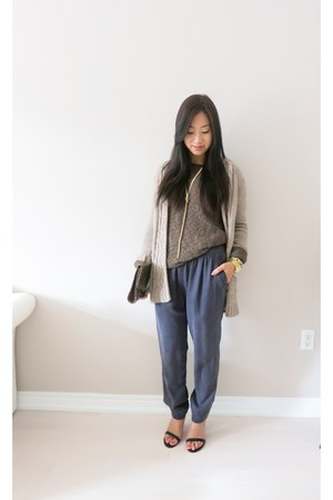 Zara cardigan - Zara sweater - Aritzia pants - Charming Charlie necklace