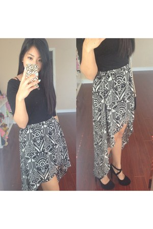 hm skirt - Club Monaco top - Steve Madden heels