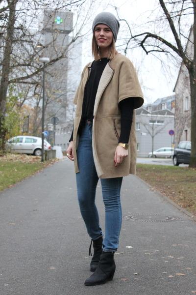 Zara coat - acne boots