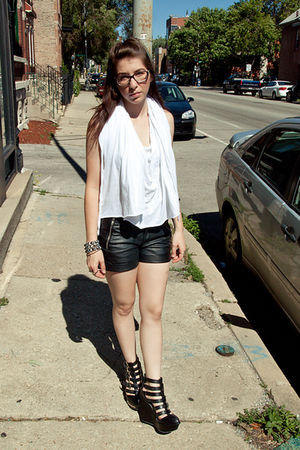 complexgeometries top - Cheap Monday shorts - Jeffrey Campbell shoes