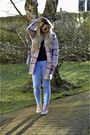 Neutral-plaid-primark-cardigan-light-pink-quilted-primark-sneakers