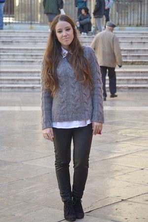 Sfera jumper - Zara boots - H&M pants