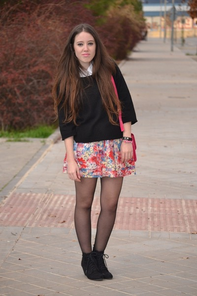 BLANCO skirt - Zara boots - tintoretto sweater