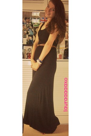black black maxi Oxygen dress - brown Primark belt