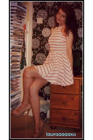 white River Island dress - nude Primark heels