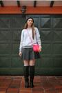Forever-21-skirt-anne-klein-watch