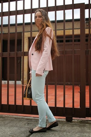 Zara blazer - Louis Vuitton bag - Zara pants - Louis Vuitton flats