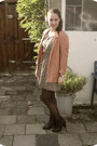 Black-sacha-boots-bronze-h-m-dress-burnt-orange-h-m-blazer