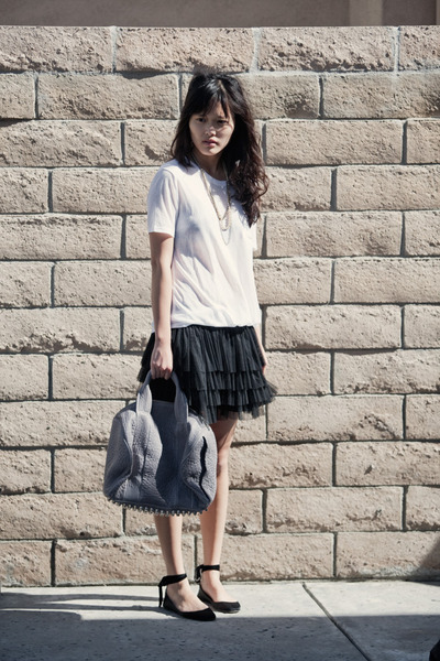 Alexander Wang top - H&M skirt - Alexander Wang purse - JCrew shoes