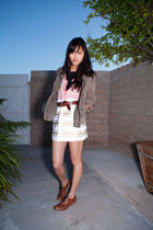 JCrew skirt - Charles David shoes