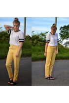 light yellow Topshop pants