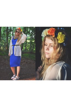 blue blue midi dress dress