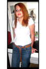 Navy-denim-jeans-mossimo-jeans-white-autograph-blouse
