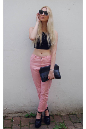 River Island top - Missguided jeans - & other stories bag - Choies sunglasses