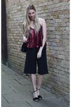 Reiss bag - Boohoo pants - Heelberry heels - Pretty Little Thing top