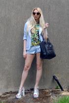 Missguided blazer - Celine bag - Missguided shorts - Glamorous heels