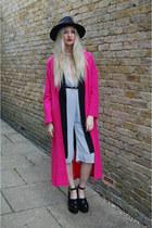 Primark coat - asos coat - Boohoo hat - Missguided romper - River Island heels