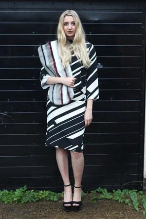 Zara top - asos scarf - Zara skirt - Heelberry heels
