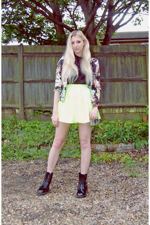 Missguided boots - Ikrush blazer - Boohoo bag - Missguided skirt