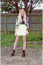 Missguided boots - Ikrush blazer - Boohoo bag - Missguided skirt