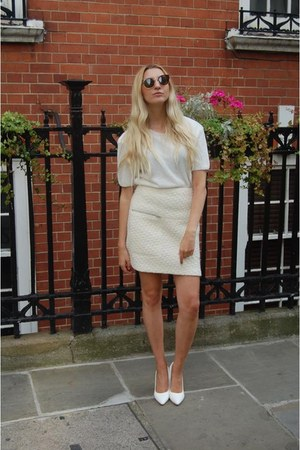Missguided shoes - OASAP sunglasses - Boohoo top - whistles skirt