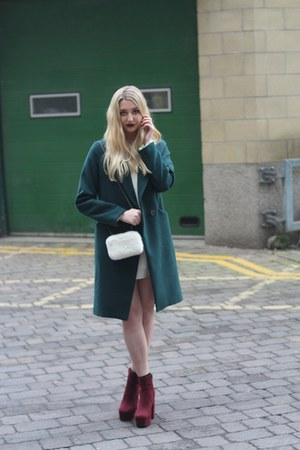 Debenhams boots - Missguided dress - Oasis coat - Dorothy Perkins bag