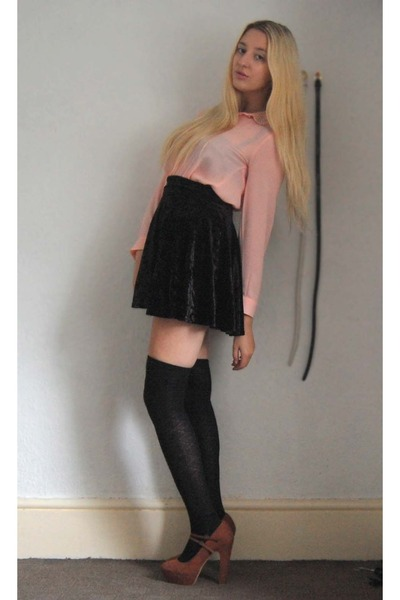 Primark skirt - H&M shirt - new look heels