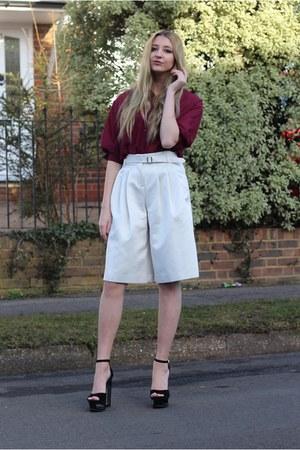 Blue Vanilla shirt - warehouse pants - Heelberry heels