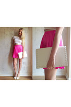 Matalan bag - River Island skirt - Missguided heels - Missguided t-shirt