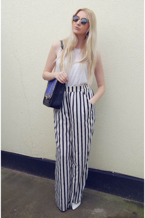 LYDC bag - OASAP sunglasses - Zara pants - Primark vest - Missguided heels