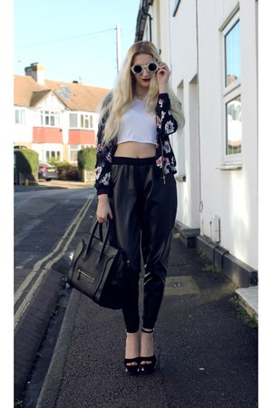Missguided t-shirt - Sheinside jacket - Celine bag - Wildfox sunglasses